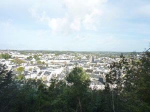 Vue de Quimper depuis le haut de la coline Frugy