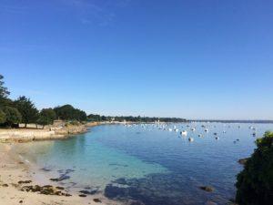 Plage de Fouesnant dans le Finistère